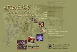 eFloraSA Electronic Flora of South Australia