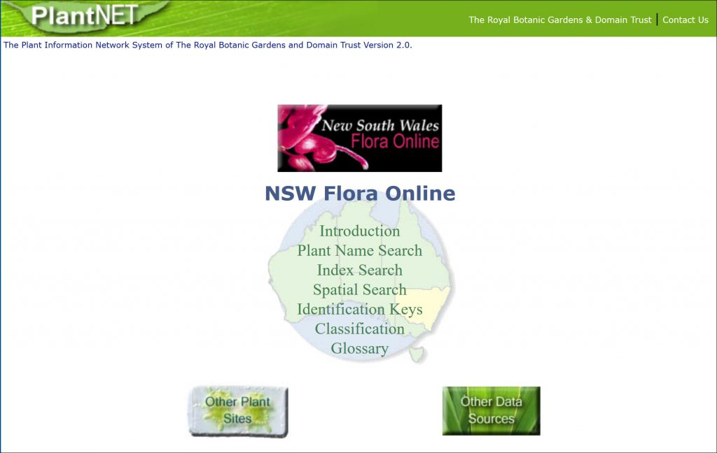 New South Wales Flora online