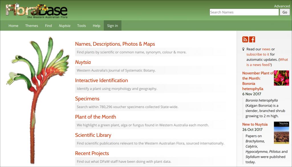 FloraBase, The Western Australian Flora