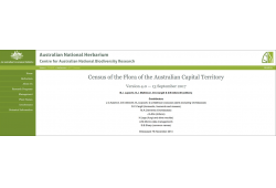 Census of the Flora of the Australian Capital Territory