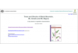Trees and Shrubs of Black Mtn, Mt Ainslie and Mt Majura based on Vegetative Characters