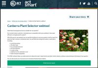 Actsmart Canberra Plant Selector Tool