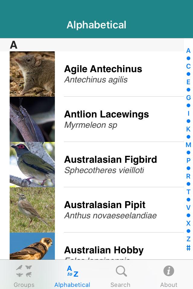 Field Guide to Australian Capital Territory Fauna app