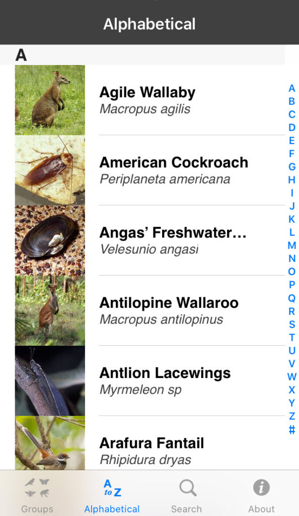 Field Guide to the Northern Territory Fauna app