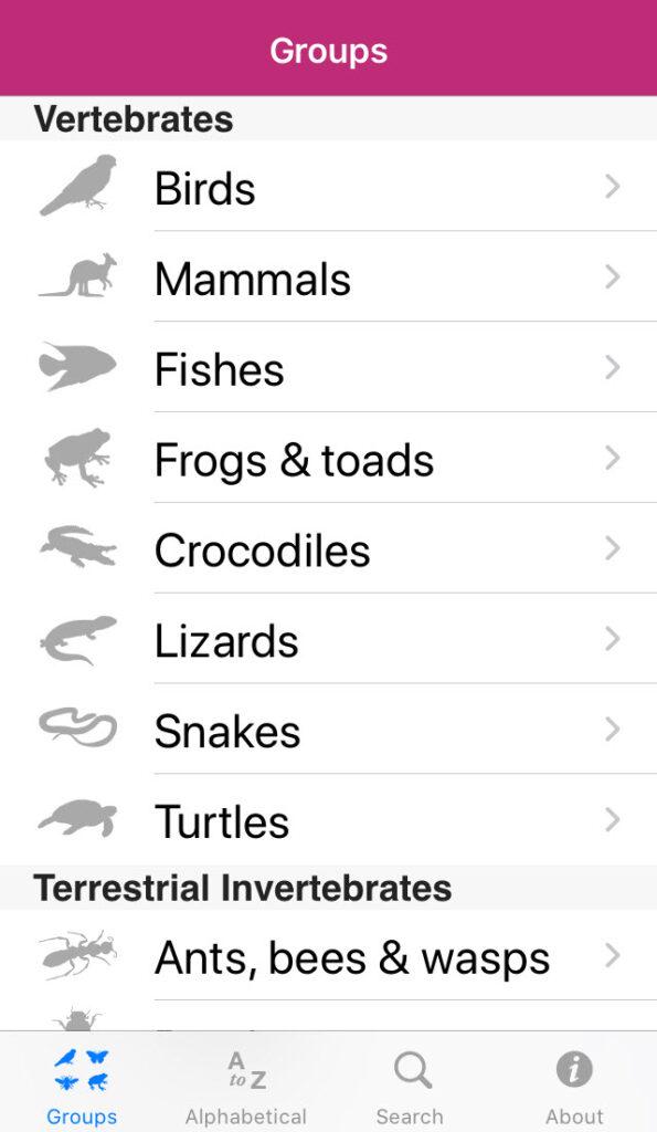 Field Guide to Queensland Fauna app
