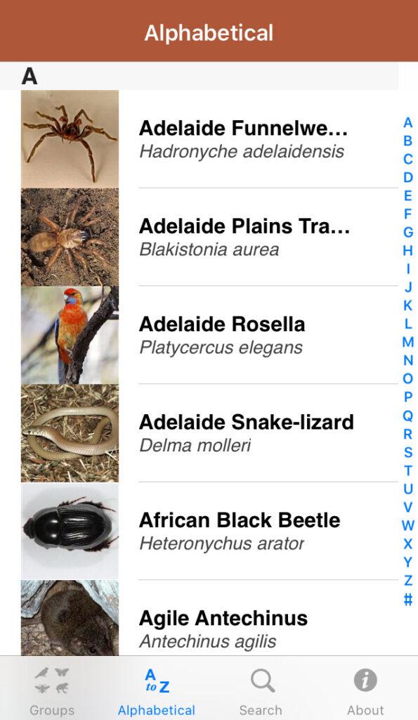 Field Guide to South Australian Fauna app