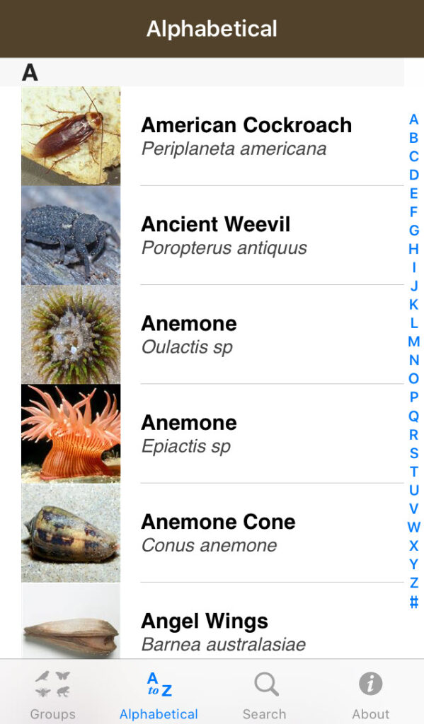 Field Guide to Tasmanian Fauna app