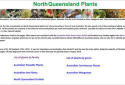 North Queensland Plants website