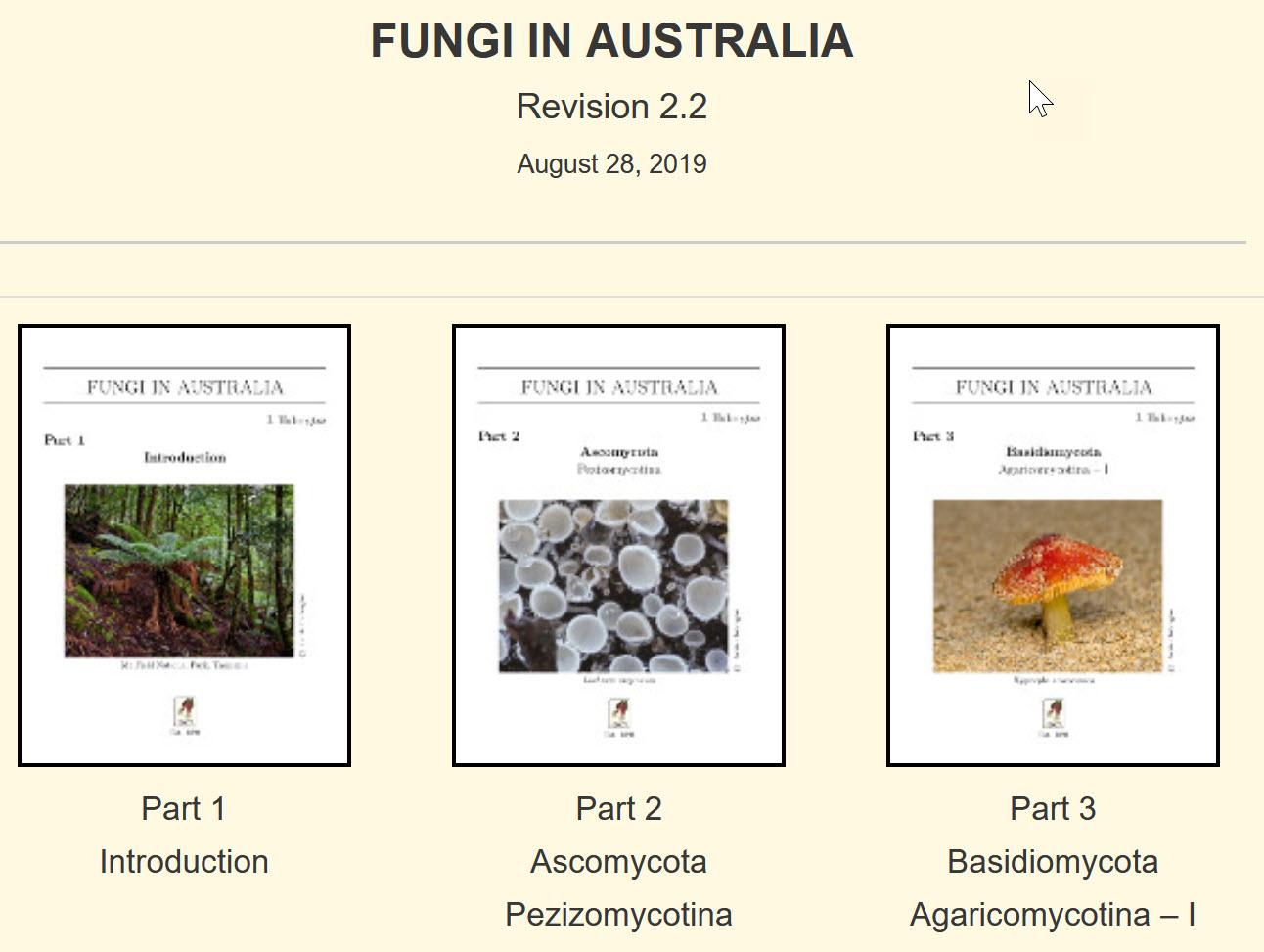 Fungi in Australia Book Cover